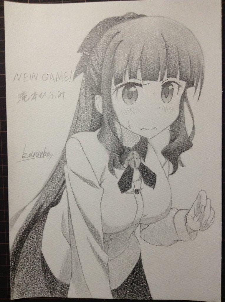 【NEW GAME!】滝本ひふみ描きました〜#newgame#滝本ひふみ