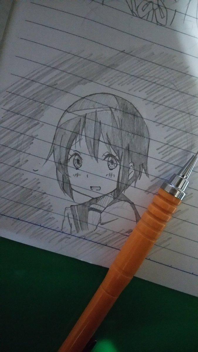 落描き~樟葉ヾ(*´∀`)💕💕京アニ作品の妹キャラの中でも上位にランクインしてます!!申し訳ないんですけど好きです💕💕#