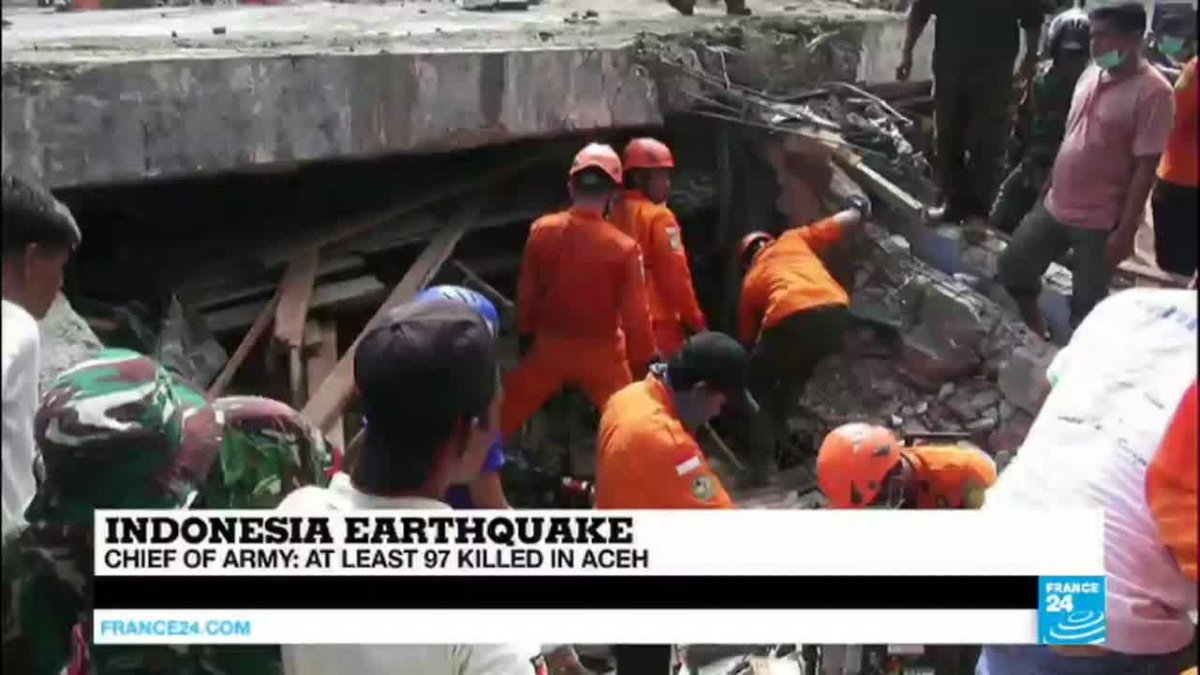 VIDEO -  Indonesia: 6.4 magnitude earthquake strike Aceh province, at least 97 dead