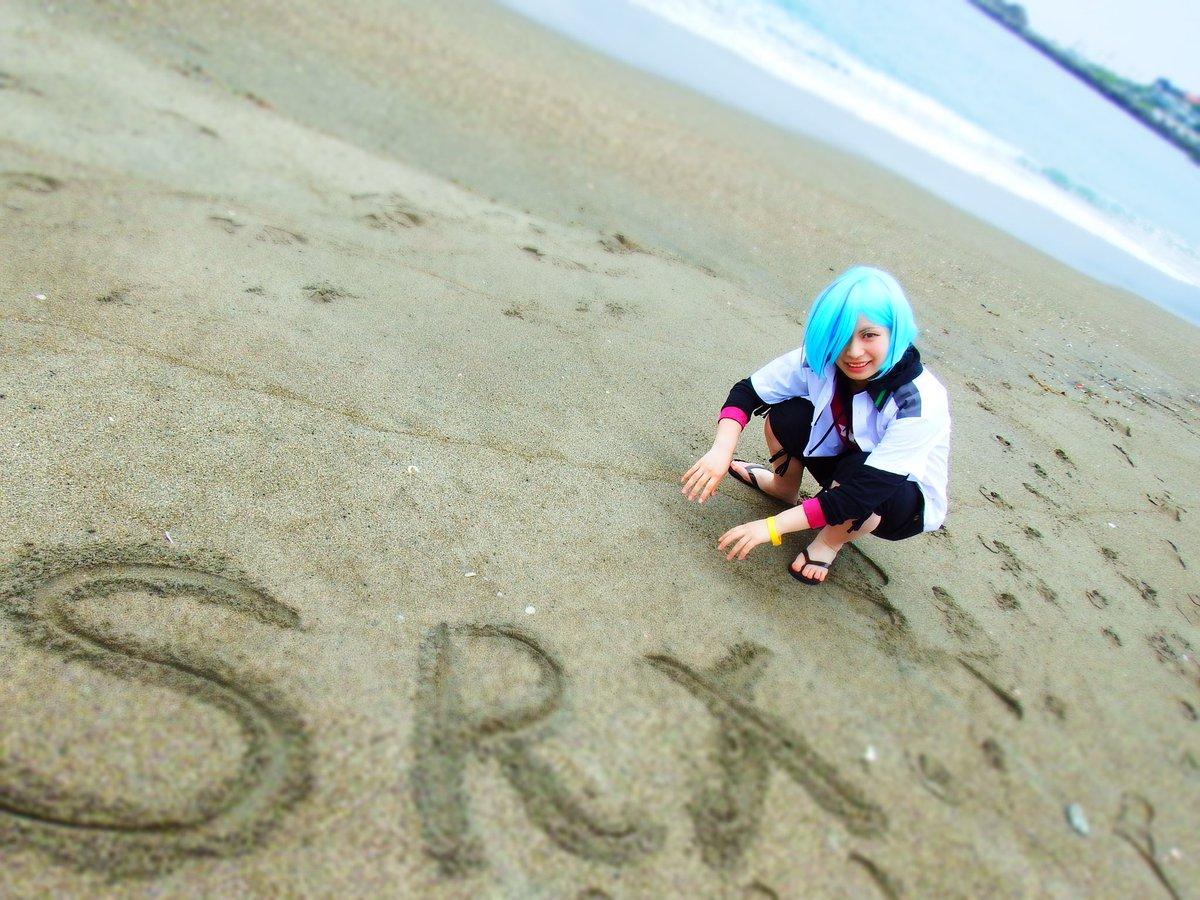 ⚠コス⚠スカーレッドライダーゼクス/鞍馬ヒロ海ロケのお写真もらったので…!!色々がんばってみたけど難しかった…photo