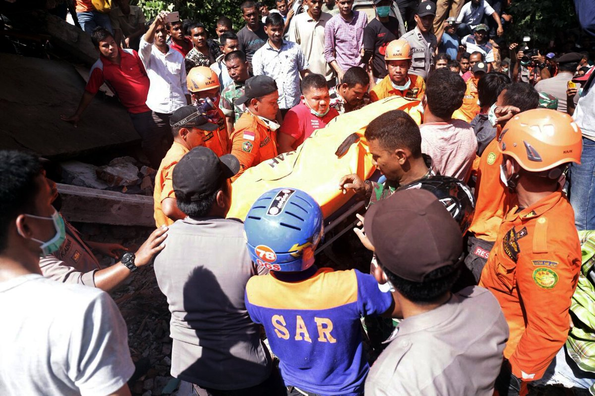UPDATE: The death toll now stands at 97 after an earthquake hit Indonesia's Aceh province – army chief.