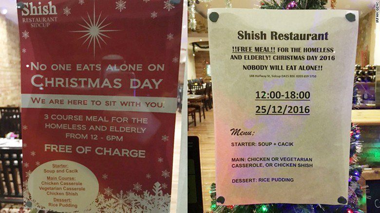 This Muslim-owned restaurant is offering a free three-course meal to the homeless and elderly on Christmas Day https://t.co/E8fnyV7WhJ