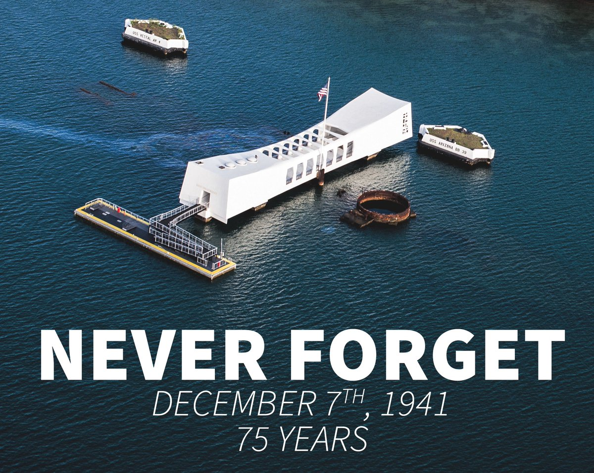 Never Forget December 7th, 1941. #PearlHarborRemembranceDay #PearlHarbor75 (Photo courtesy of the U.S. Navy) https://t.co/8F99ToRKvy