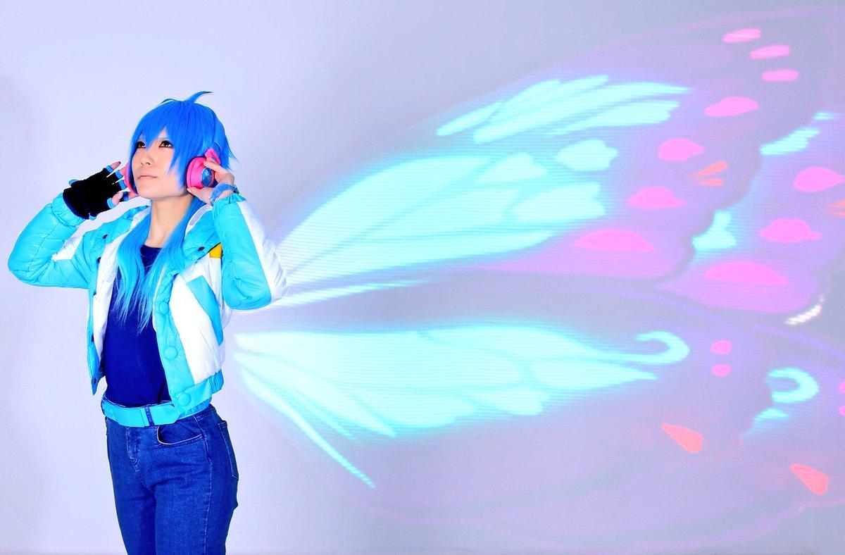 速報 ラストォォォォォォ!!!!蒼葉ちゃんに青い蝶の羽をつけてあげました😭🙌🏻これ撮れた瞬間は、まじで感動👏🏻まぁ、うち