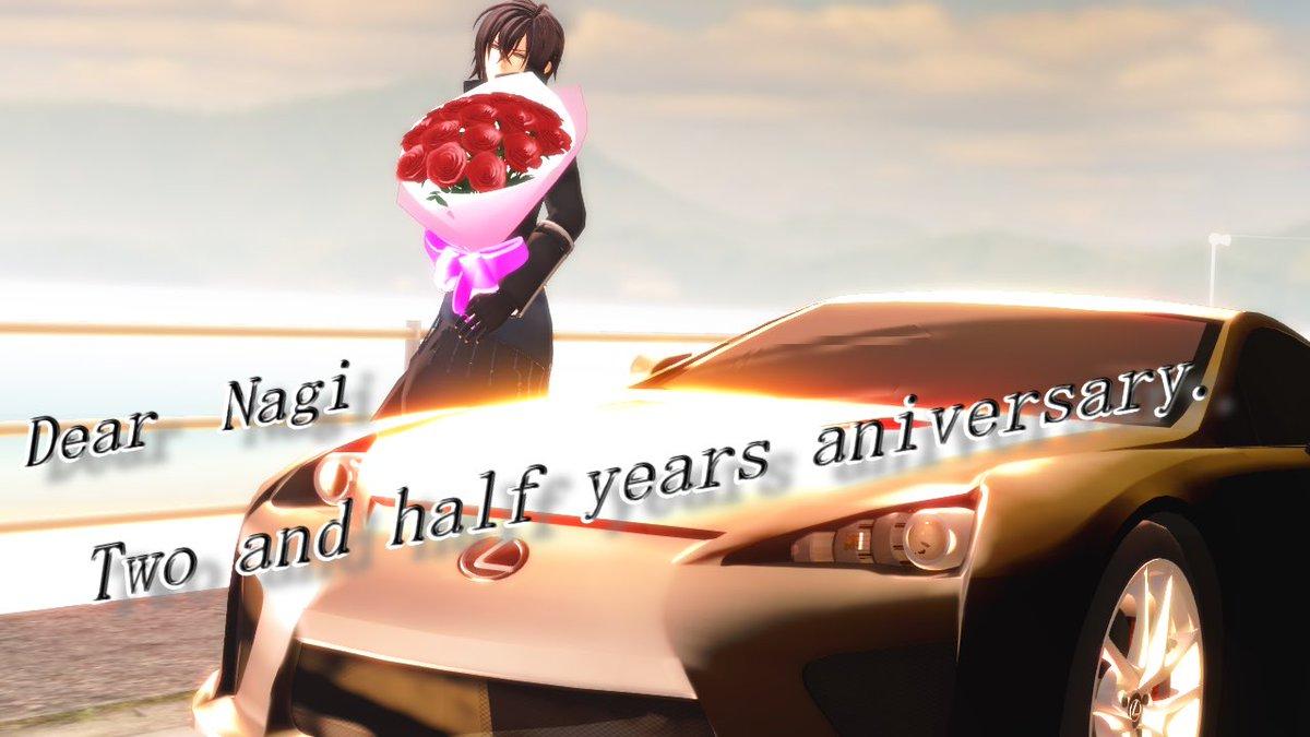 ナギさん()二周年半おめでとう♡&お疲れ様♡ これからもMMD薄桜鬼を楽しみながら、素敵な作品をお待ちしてます^^ 頑張