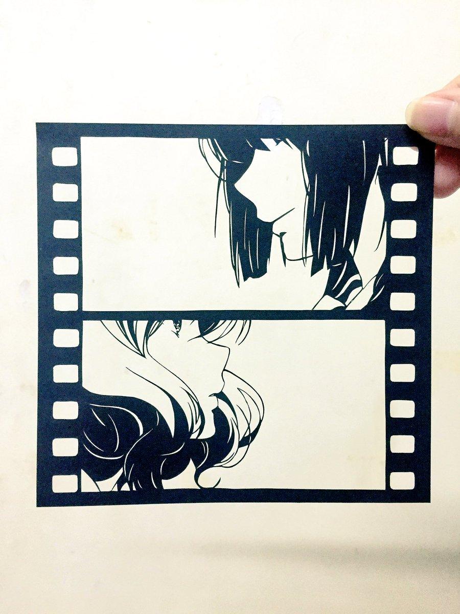 響け!ユーフォニアムよりくみれな❤️#切り絵#anime_eupho