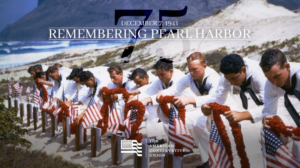 We honor the brave servicemen and women who sacrificed 75 years ago for the freedoms we enjoy today. #PearlHarbor75 https://t.co/EkGCRSvCwQ