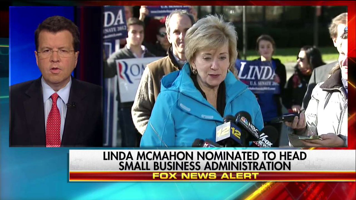 News Alert @Linda_McMahon nominated to head Small Business Administration.