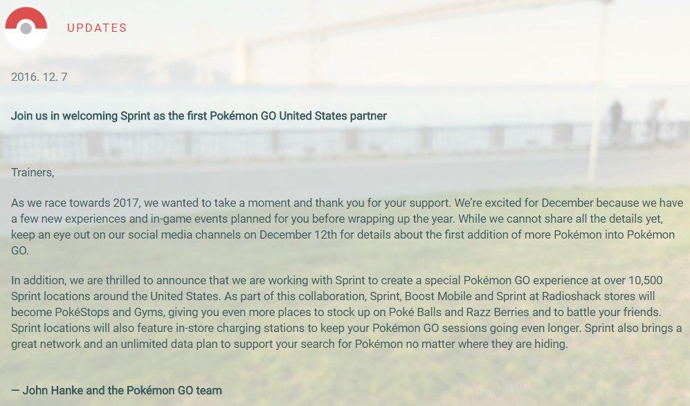 Pokemon GOに追加の「第2世代ポケモン」、詳細は12月12日(米国時間)に発表へ