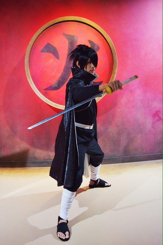 「NARUTO -ナルト- 疾風伝 サスケ真伝【来光篇】 in J-WORLD TOKYO」開催中!黒猫のシルエットが格