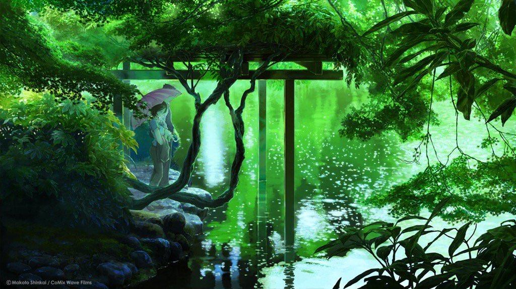今日言の葉の庭を見ましたとっってもよかったです 雨が美しく雪野先生素敵です#言の葉の庭