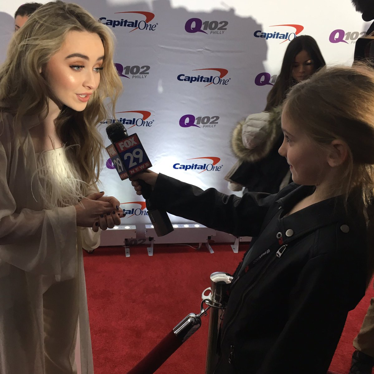 So. One of highlights from #Q102JingleBall  Landry Jane talks to @SabrinaAnnLynn   THANKS FOR BEING SO SWEET TO HER https://t.co/v42wcftUIZ