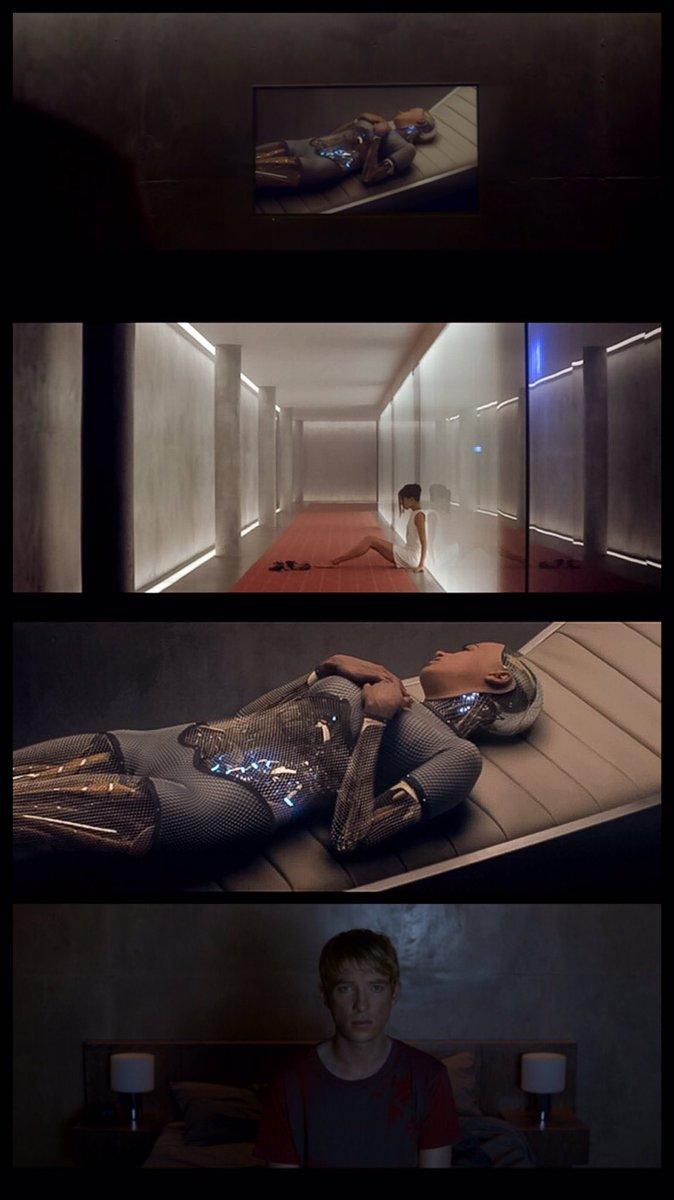 """『エクスマキナ』のありとあらゆる無駄が排除された無機質な部屋と、流動的な生命の美しさとデジタルが融合したAI""""エヴァ""""始"""