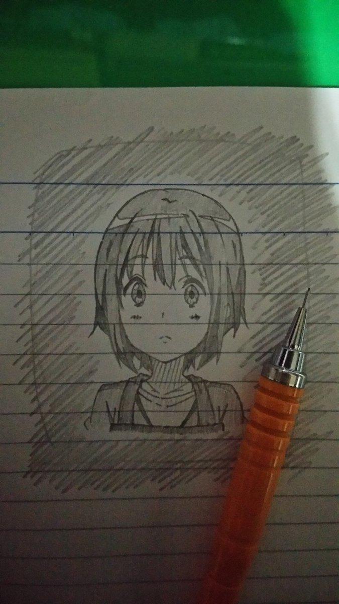 落描き~樟葉ヾ(*´∀`)🎵🎵#chu2koi