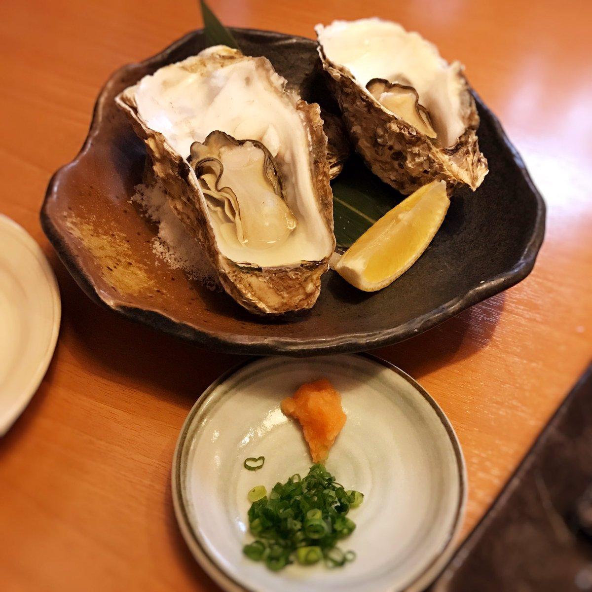 直帰のままからのワカコ酒(^з^)-☆北海道産の牡蠣💕