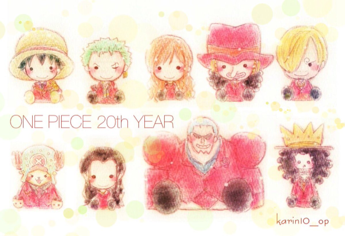 ONE PIECE 20TH YEARお揃いの赤衣装♡