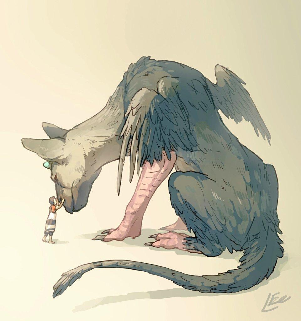 トリコ落書き初プレイ後なんか堪らなくなって、横で寝てた犬に思い切り抱きついちゃった#人喰いの大鷲トリコ #TheLast