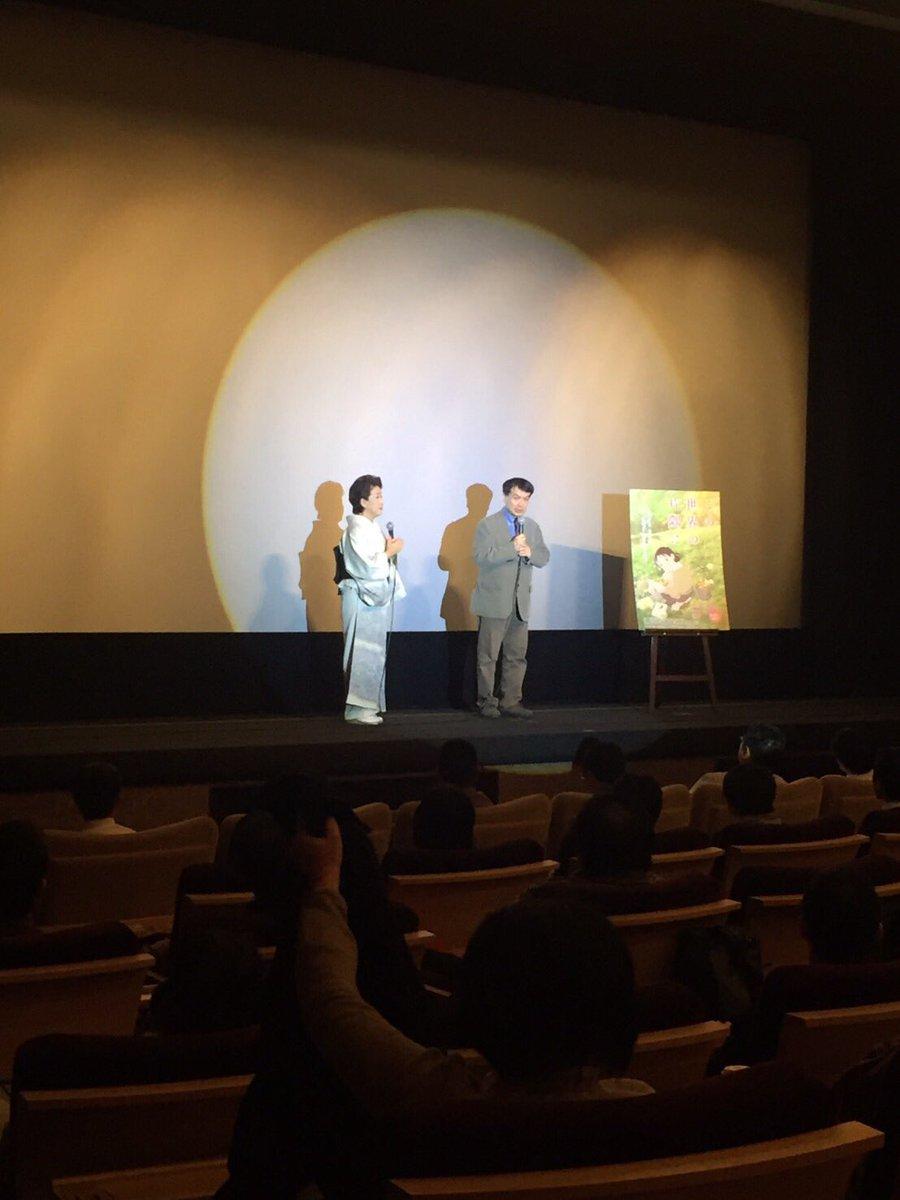 片渕須直監督 in 広島 八丁座。11/13に『この世界の片隅に』舞台挨拶で訪れてからひと月弱。またこうして沢山のお客様