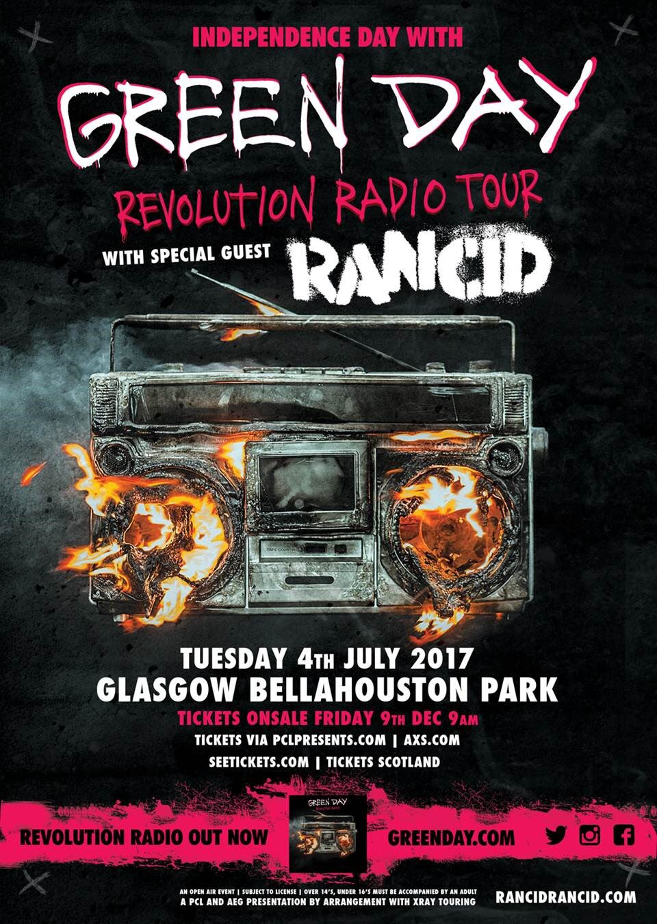 Green Day are coming to Glasgow July 4th, 2017. More info and tickets: https://t.co/VIdpOQ5uEd https://t.co/CFJ8QyKP2s
