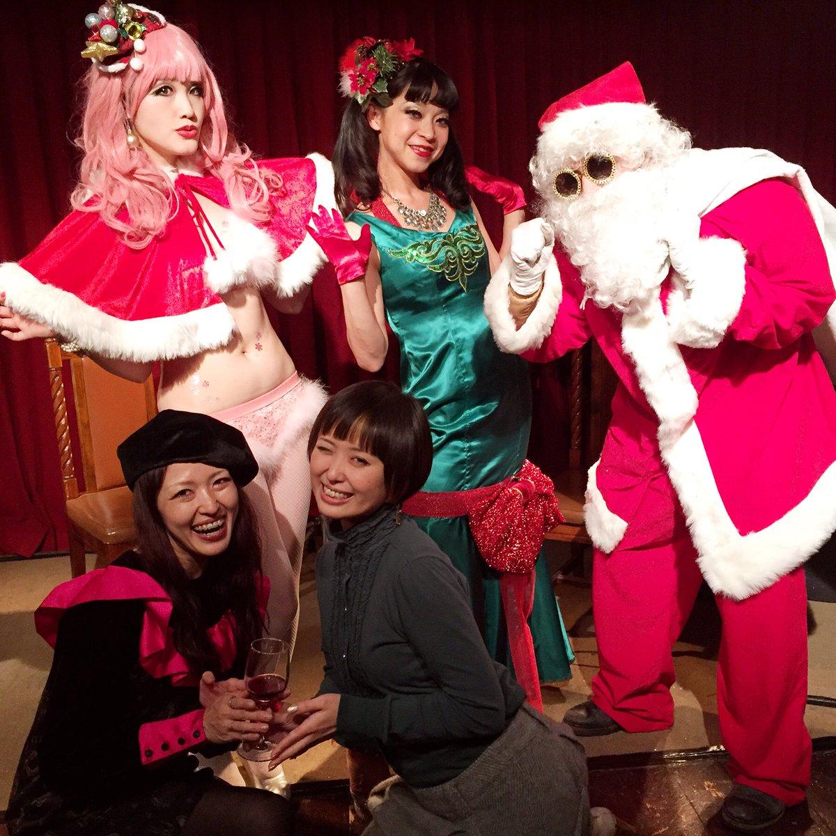 今月の紫ベビードール☆レギュラー3人はクリスマス仕様だよ!残念ながらジルベールさんはお休みで、MCは「サンタ・ド・モッコ