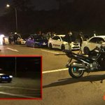Hoseh liao! Alleged illegal racers at Lim Chu Kang busted by Traffic Police