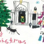 Children's art brightens up leaders' Christmas cards