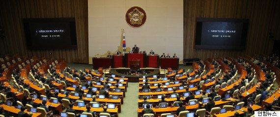 [속보] 박근혜 대통령 탄핵소추안 국회 가결 : 찬성 234 반대 56 기권 2 무효 7