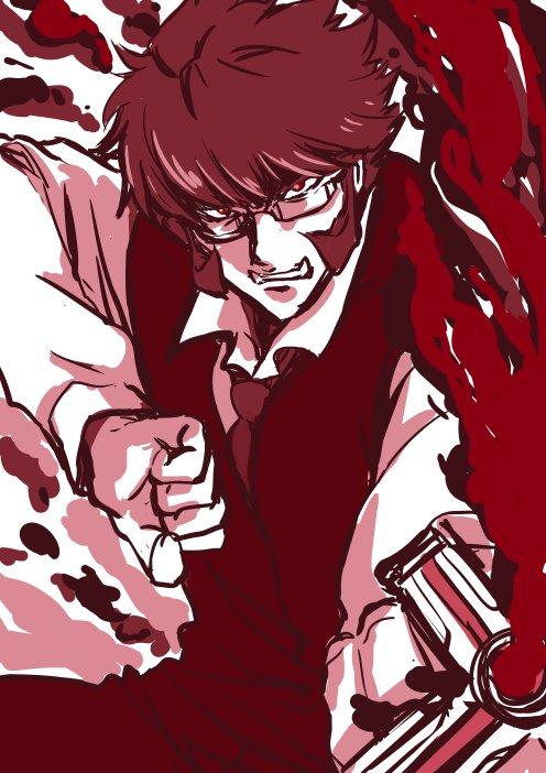 ラクガキ。血界戦線のクラウスさん。現在10巻、1Stシーズン終了まで読みました。みんなかっこよくて良いです。(*´Д`)