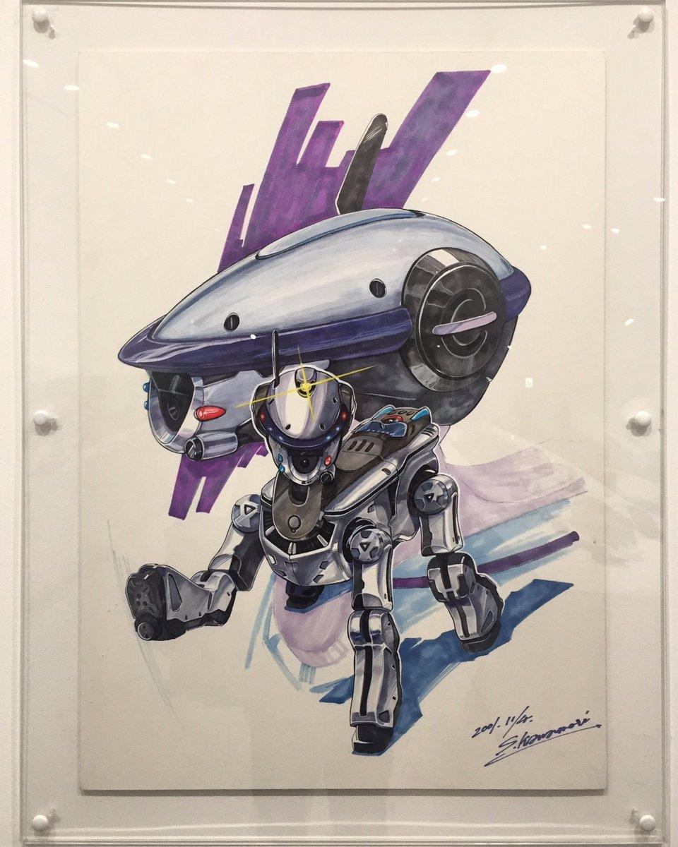 今日は東京来たついでにソニービルのSONY展に寄ってみたよ。AIBOのコーナーにマクロスの人のイラストがあったよ。