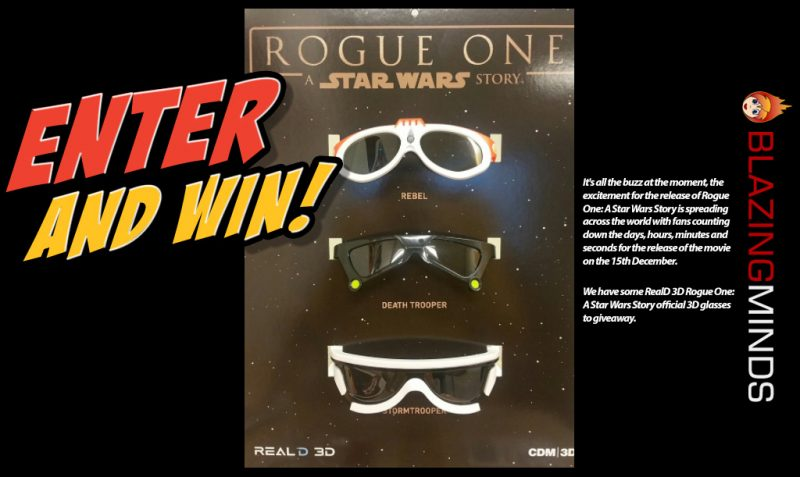 Follow @RealD3DUK and RT to win an exclusive pair of #RogueOne 3D glasses. Enter by 161216 https://t.co/IyjgNQdAmO https://t.co/rgfqg6aXjg