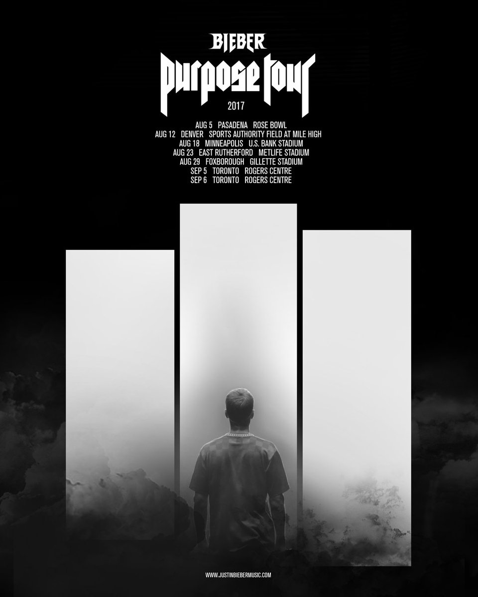North America 2017 #PurposeTour stadiums on sale now. See u soon
