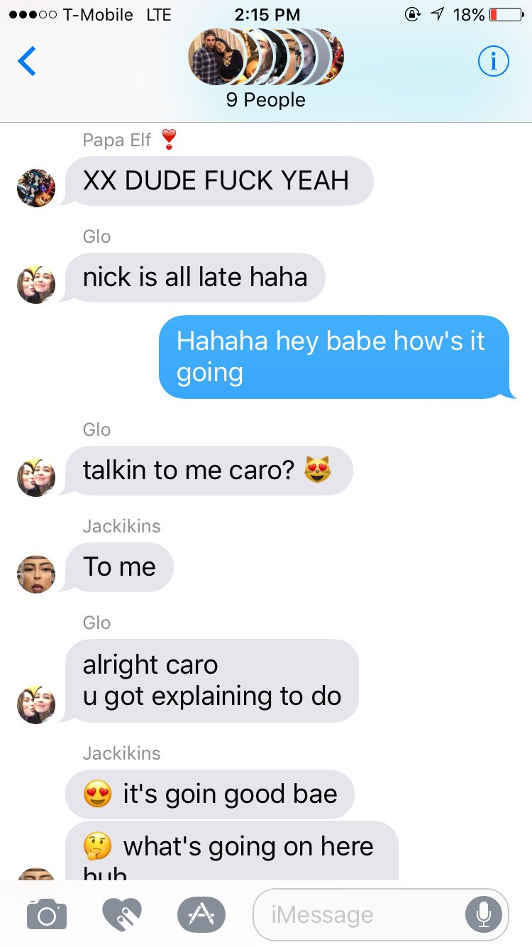 Can't talk to nick in our group msg �� lol https://t.co/glMLPKqnDx
