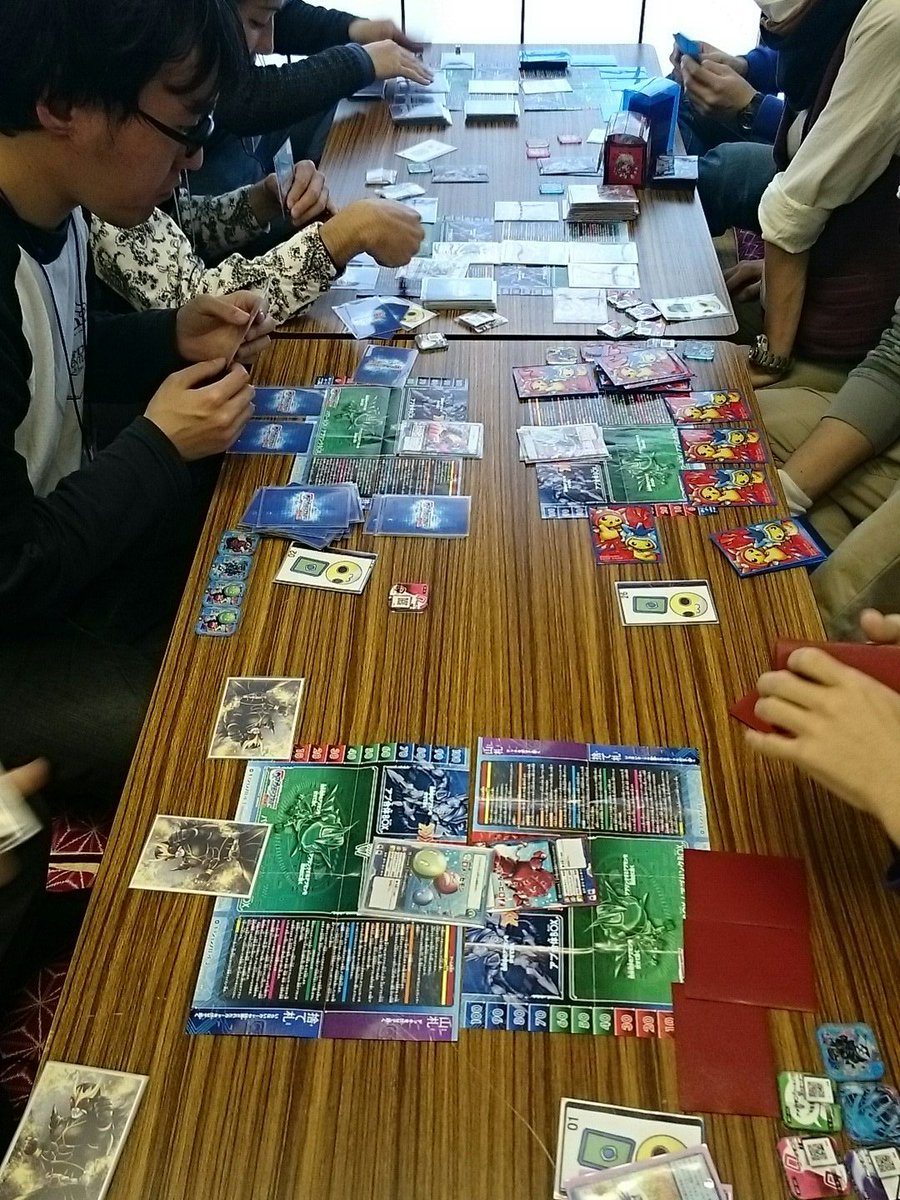 現在はアプモンカードゲームの大会を進行中!14名の参加!!#アプモン #アプカ