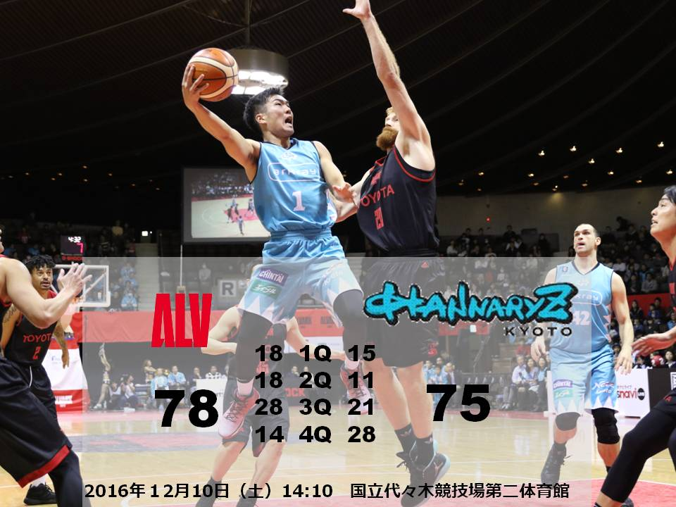 【GO all out.ダシツクセ】アウェイ A東京戦 GAME1試合終了 東京78-75京都ディフェンスからのオフェ