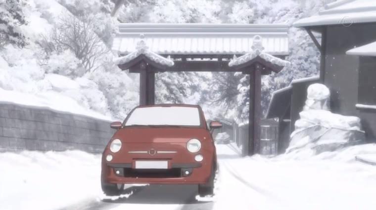 【作品】咲-saki-【人物】新子 望【車種】フィアット・500【年式】2007年~