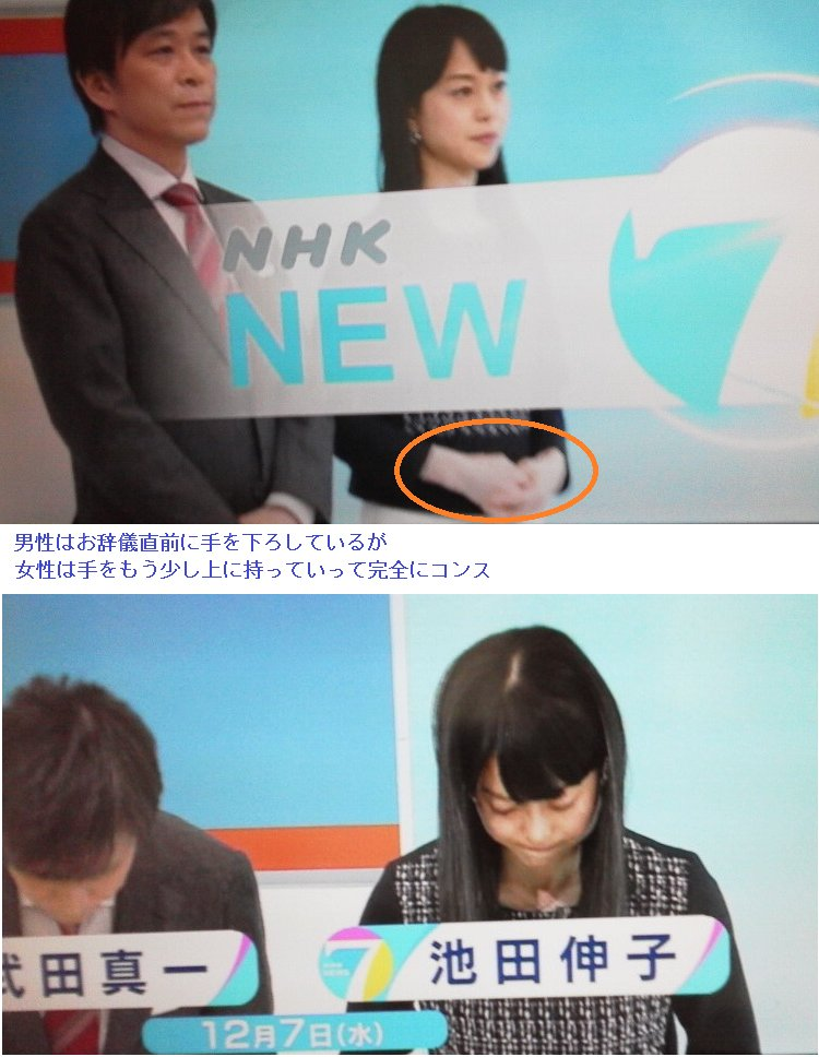 日本人としてまともなお辞儀も出来ない者がゴールデンタイムにニュースを伝える