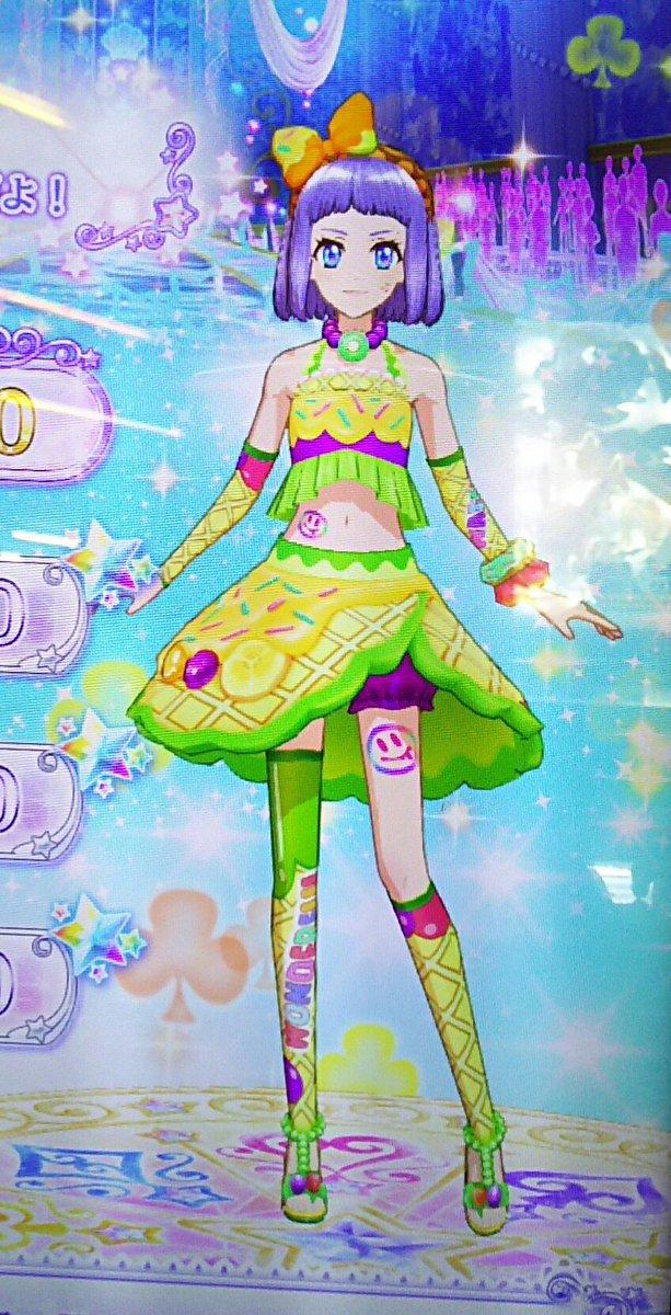 3DSアイカツスターズ!オリジナルカラードレス、ポップ2種