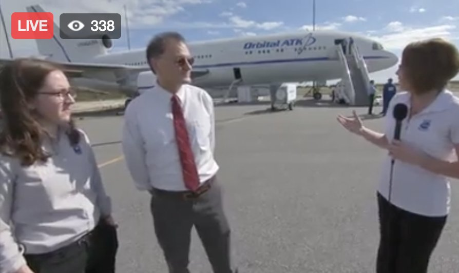 LIVE NOW: Go inside the aircraft that will launch our #CYGNSS hurricane forecasting mission: https://t.co/egAKOthym6 https://t.co/w08E9b1oJs