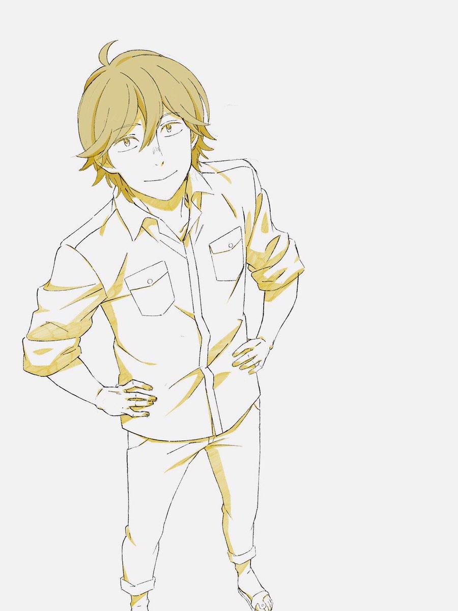 うどんの国の金色毛鞠の俵宗太を描きました!#うどんの国の金色毛鞠 #udonnokuni