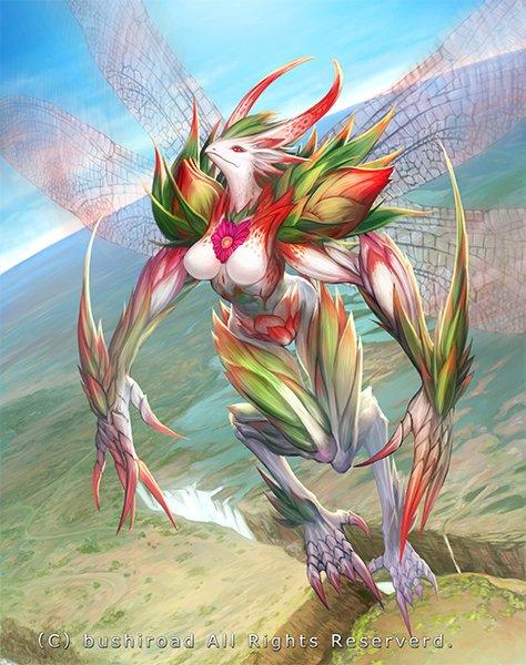 遅れましたが12月9日発売「カードファイト!! ヴァンガード」「繚乱の花乙姫」にて『フロルネウラ・ドラゴン』描かせていた