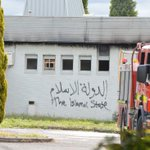 "Fawkner's Imam Ali Islamic Centre vandalised with ""Islamic State"" before catching on fire"