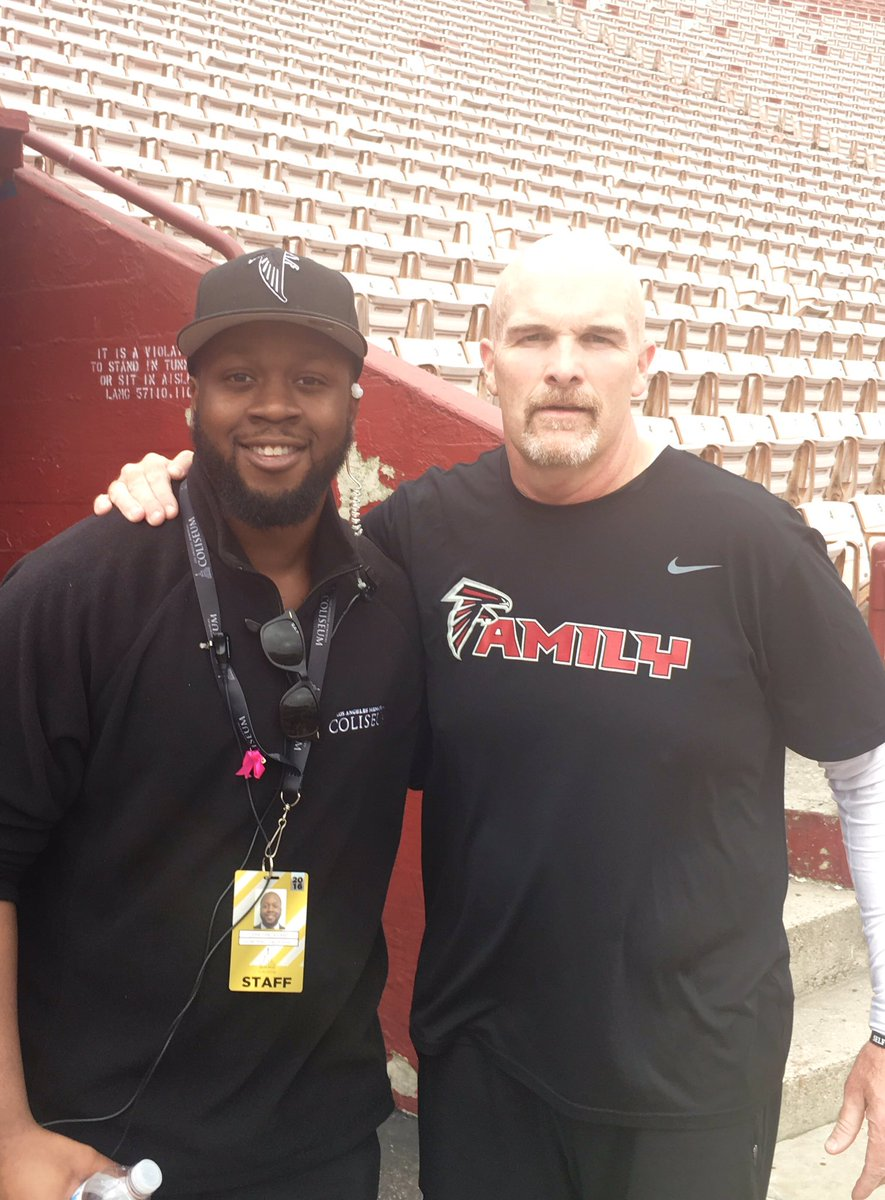 """Was chillin in the stands and Dan Quinn runs past, he said, """"I like that hat."""" I replied, """"I like that shirt."""""""