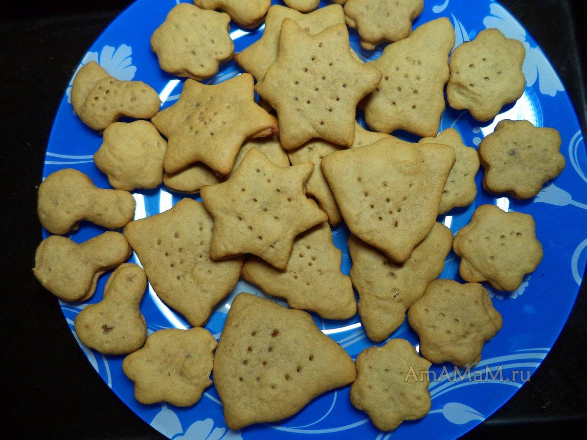 Печенье на скорую руку на сковороде пошагово