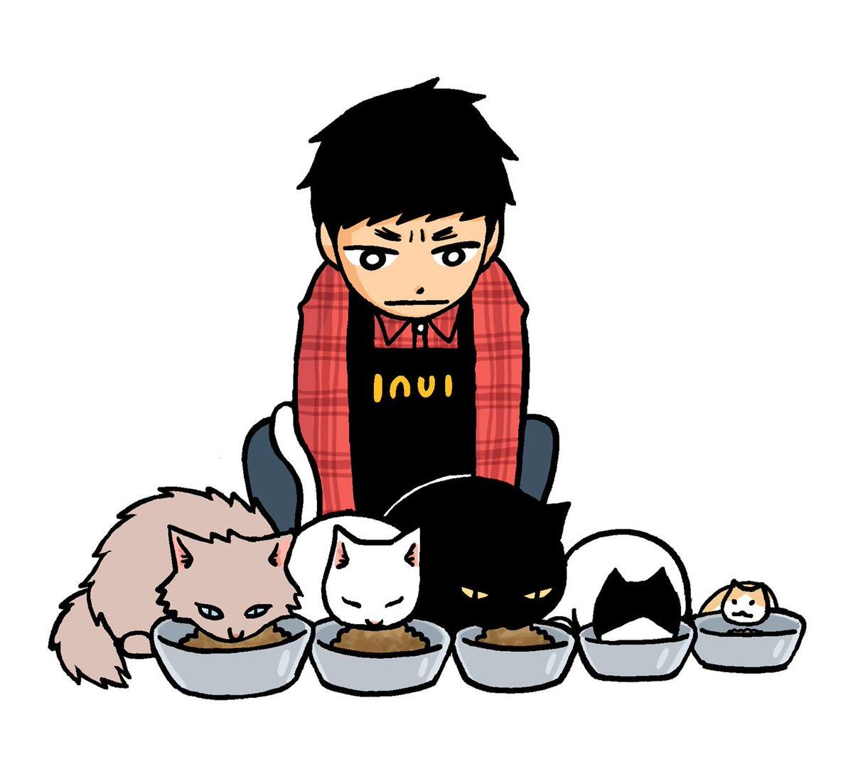 本日発売・竹書房まんがライフオリジナルにて新連載「猫喫茶いぬい」はじまりました。いとしのムーコに対してねこのたくさん出て