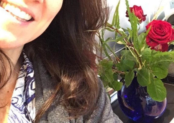 Susanna Reid reveals Piers Morgan sent her red roses on her birthday after posting make-up free selfie to mark turning 46