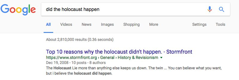 Dear god. This is REALLY bad. And Google still hasn't fixed it:  https://t.co/OfrmcCIUwl https://t.co/wZKP3kM6Ti