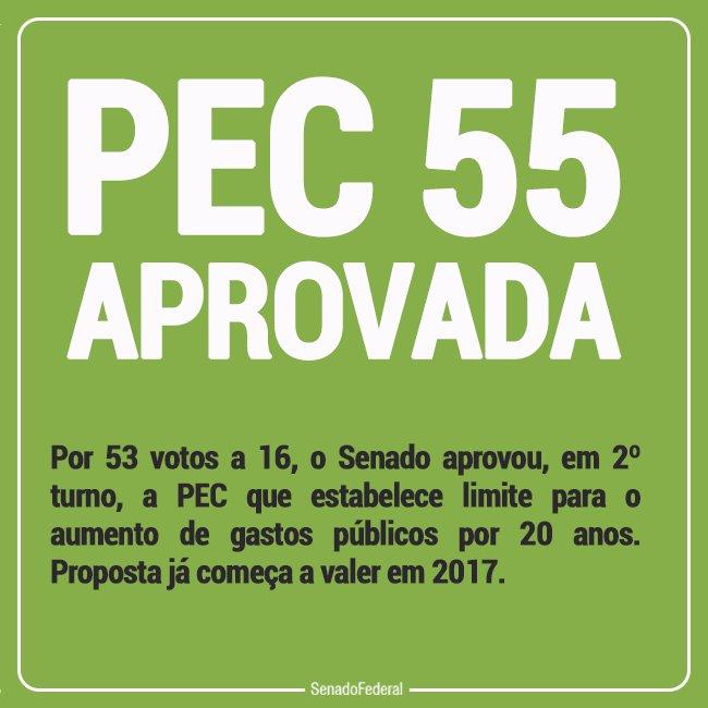 #PE55 aprovada. https://t.co/vRcSguwcWS