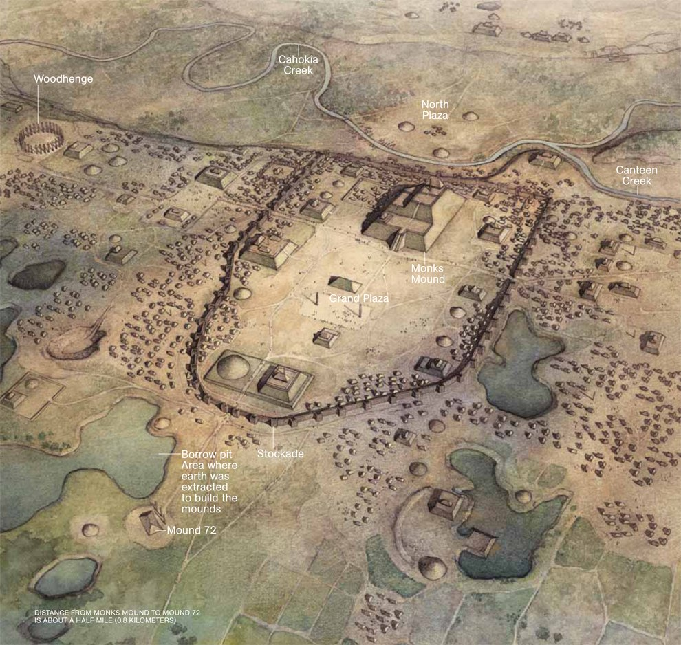 """Awesome story about Cahokia, """"America's lost medieval city"""", by @Annaleen https://t.co/ywKtAMcx7W https://t.co/KrSXIqR879"""
