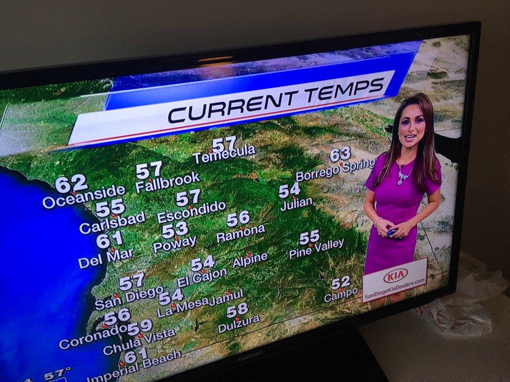 I had no idea is the weather girl in #SanDiego... #whoknew?! OoQSFObzIh