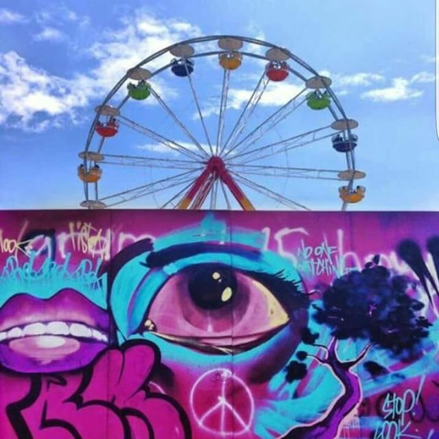 The Ferris Wheel spinning over a purple horizon. (��: Bonnaroovian @ Mountaintopstop on insta) #bonnaroo https://t.co/CpTHiS9ynt